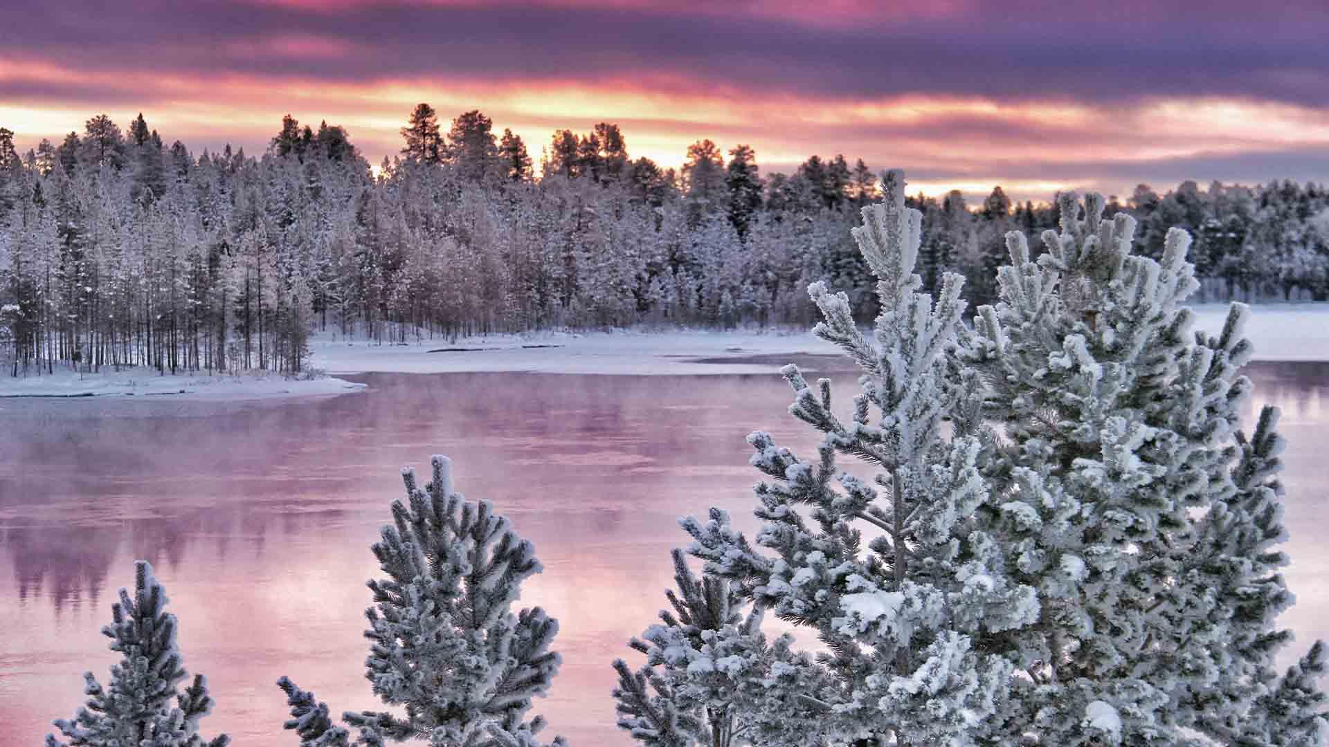 Bevroren Finse meren