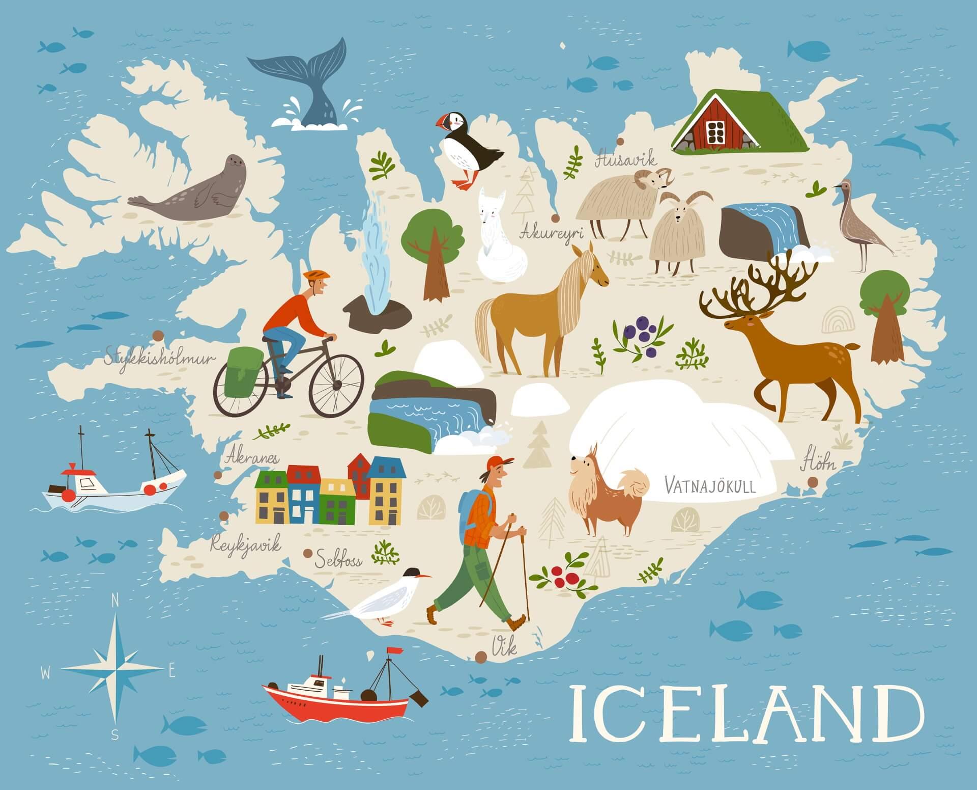 Kaart van IJsland